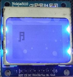 ESP32 Nokia 5110 LCD display ASCII symbol
