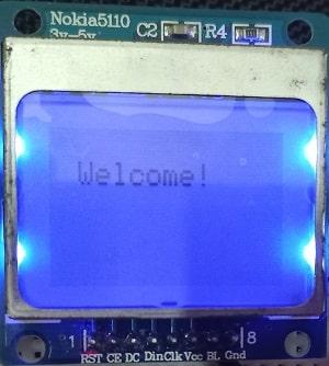 ESP32 Nokia 5110 LCD display simple text