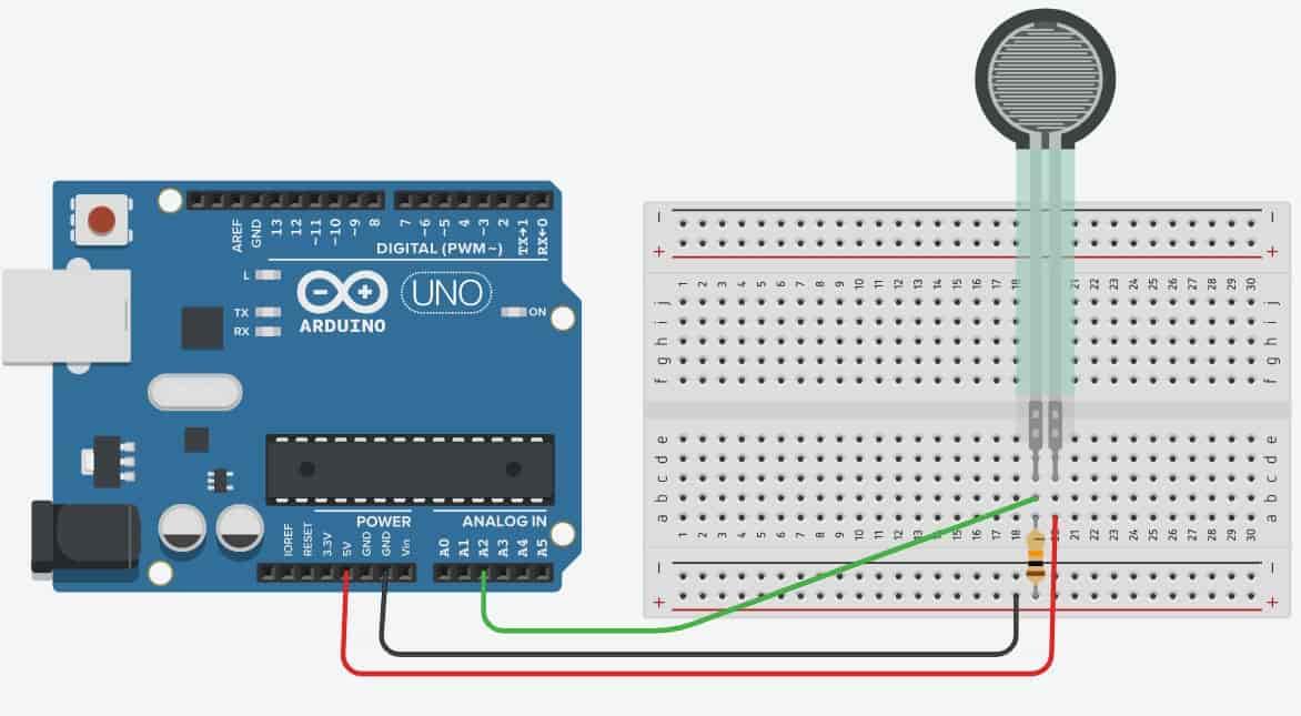 FSR force sensor interacing with Arduino