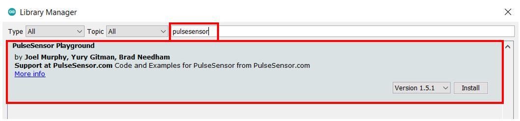 Installing Pulse sensor library