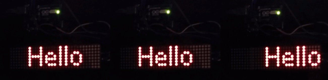 MAX7219 LED dot matrix display module display text with Arduino
