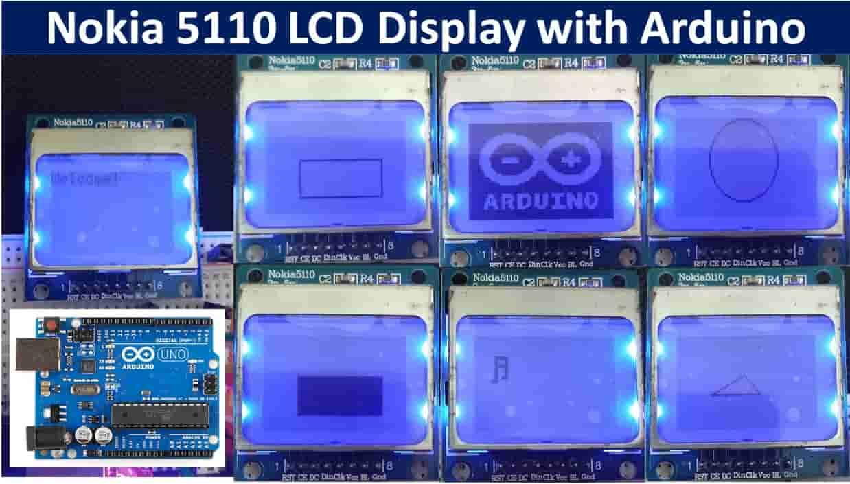 Noki 5110 LCD Arduino tutorial