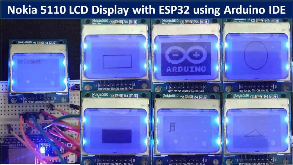 Nokia 5110 LCD ESP32 tutorial