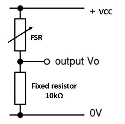 Obtaining FSR value voltage divider configuration
