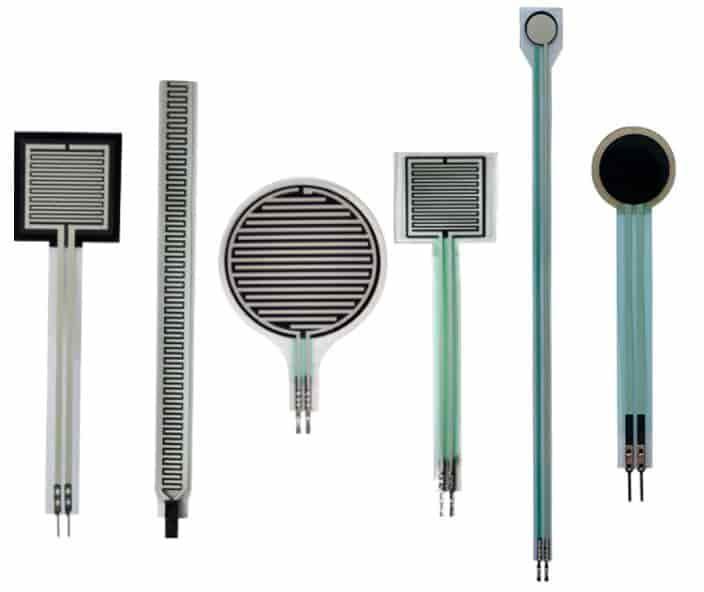 different types of FSR force sensors