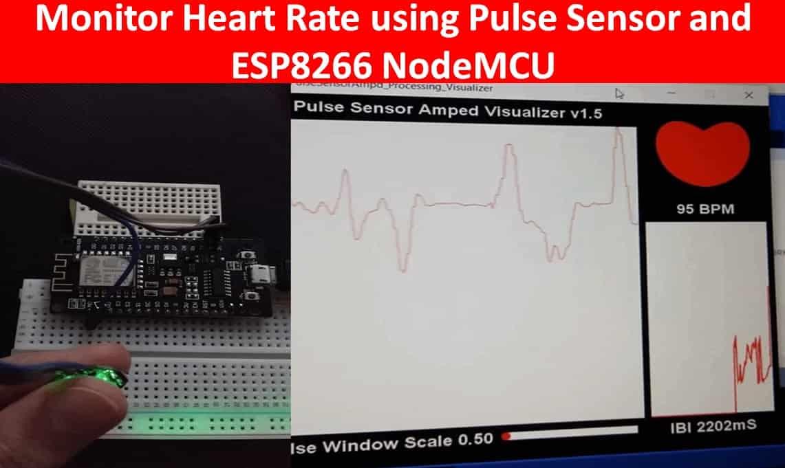 pulse sensor esp8266 nodemcu arduino tutorial