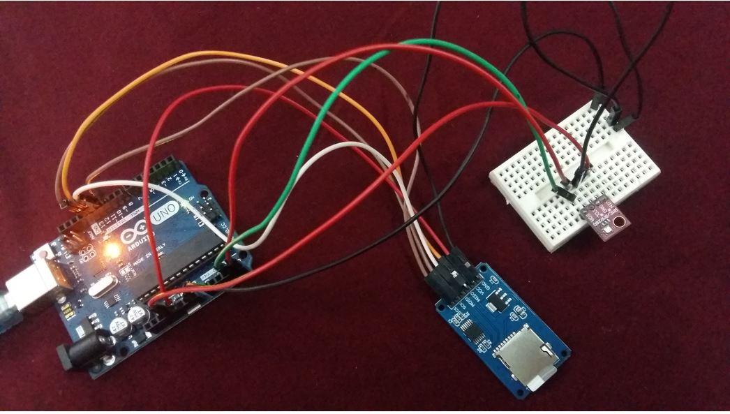 Arduino BME280 data logging to microSD card hardware