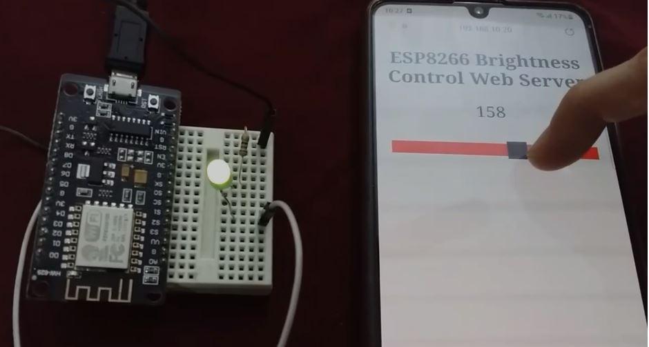 ESP8266 slider PWM web server setup