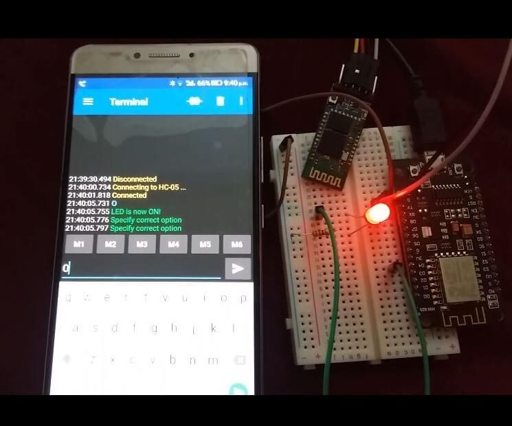 ESP8266 with HC-05 demo