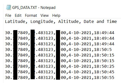 GPS data logging to microSD card Arduino demo
