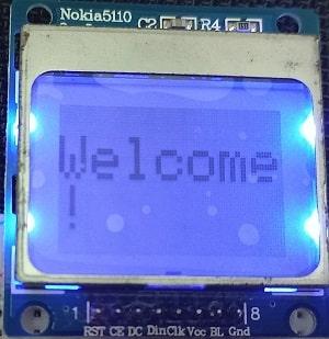esp8266 nodemcu Nokia 5110 LCD display scaling text